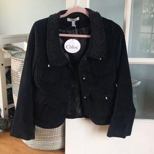 Chloe jacket with beaded collar